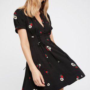"Free People ""Dream Girl"" Mini Dress in Strawberry,"